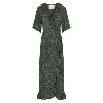 Just Female Image Maxi Wrap Dress