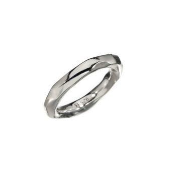 KumKum Raw Silver Ring