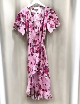 One Season Costa Rica Piper Frill Wrap Dress