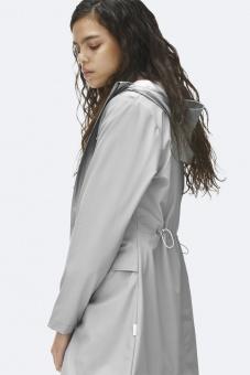 Rains Long Jacket Silvergrå