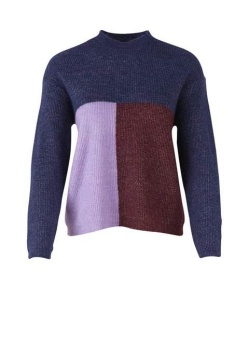 Saint Tropez Color Block Sweater