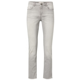 Yaya Straight Jeans Frayed Trims