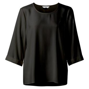 Yaya Kimono Sleeve Svart Top