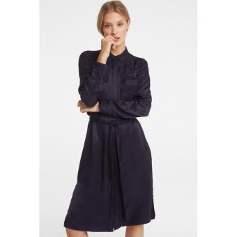 Yaya Dress Satin Contrast Pocket