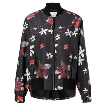 Yaya Bomber Coat Flower Print
