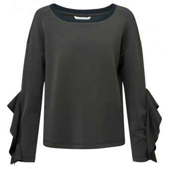 Yaya Jersey Cropped Sweater