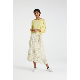 Yaya Wrap Skirt With Ruffle