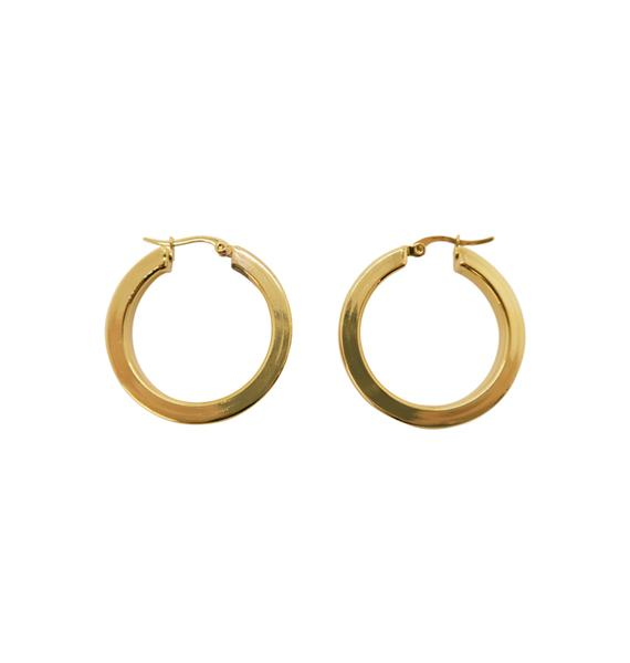 WOS Flat Gold Hoops