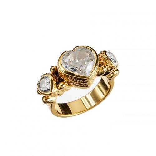 KumKum Heart Zircon Guld Ring