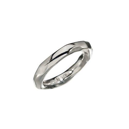 KumKum Raw Silver Ring