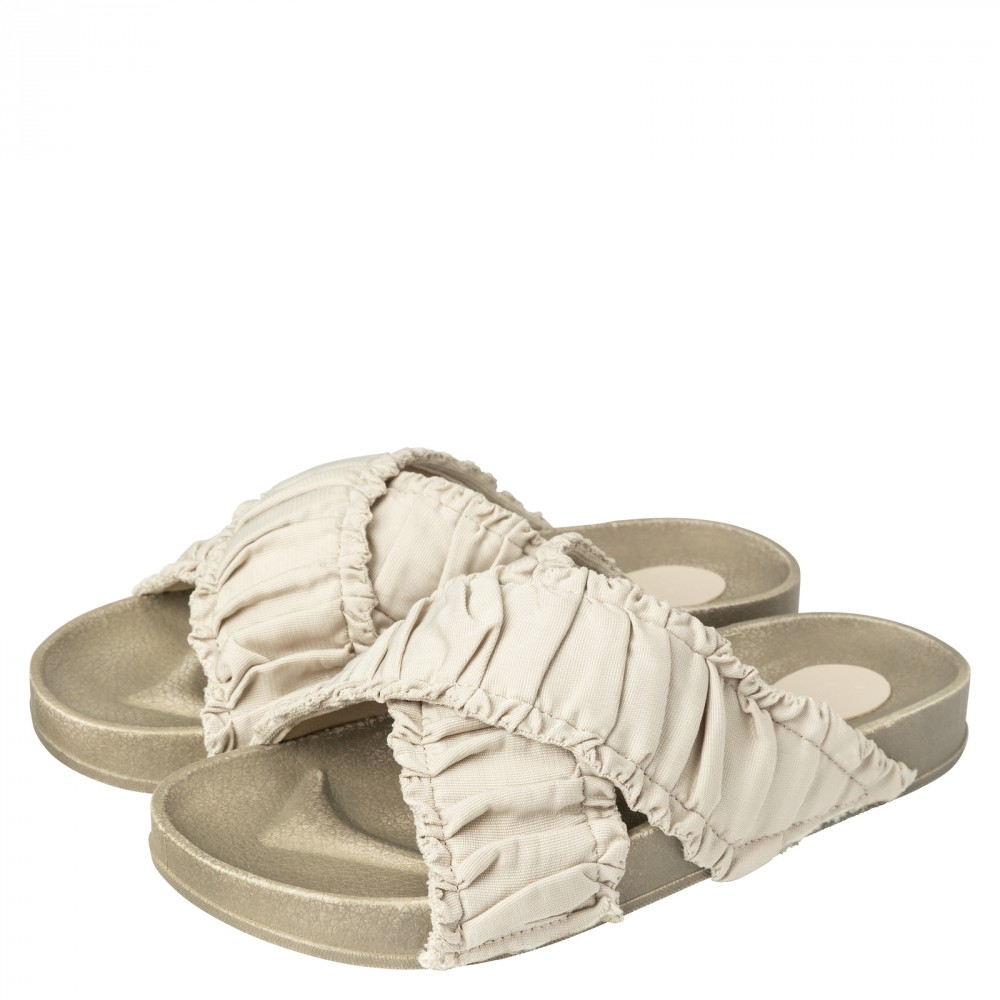 Yaya Cotton Crisscross Slides Sandals