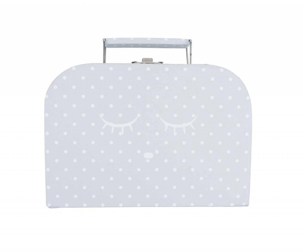Väska, small sleeping cutie trunk grå