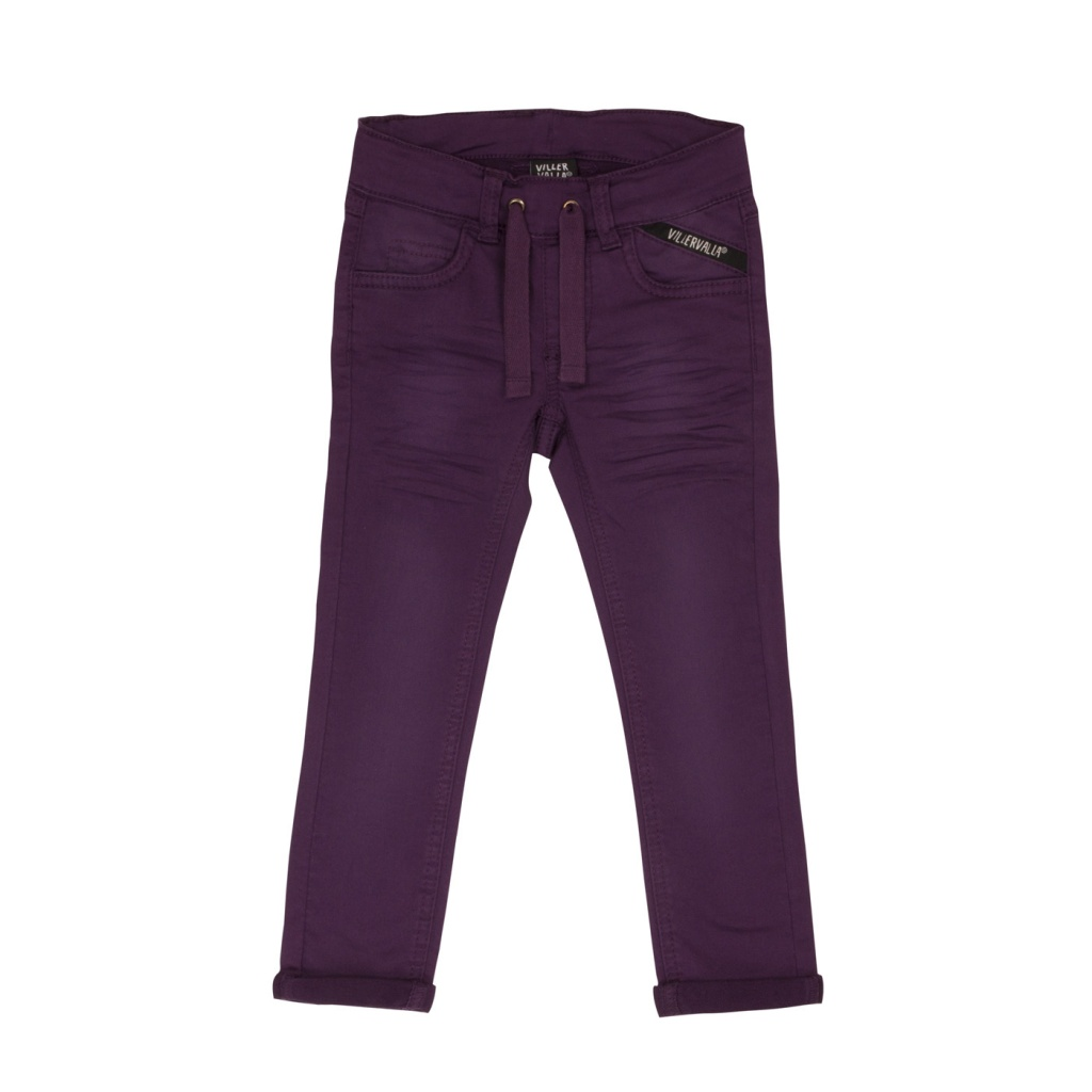 Byxa Sweat Twill slim pants Grape