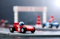 Racerbilbana blå