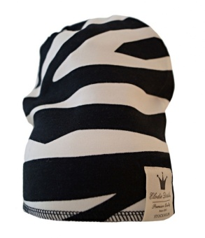 Winter Beanie - Zebra Sunshine