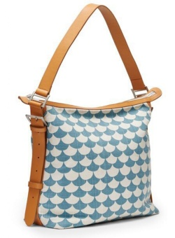 Väska - Small Messenger bag waves Blue/gray