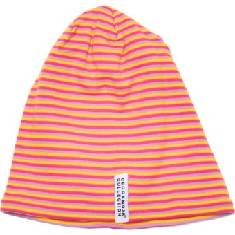 Mössa Topline Fleece 3 striped cerise