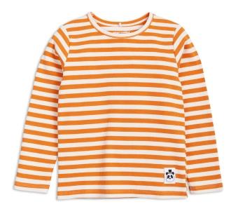 T-shirt långärmad Rib randig