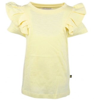 T-shirt Flounce tee ljusgul