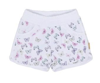 Shorts vita med fjärilar