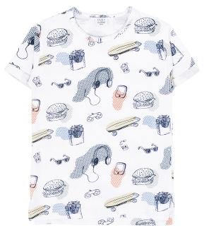 T-shirt vit mönstrad