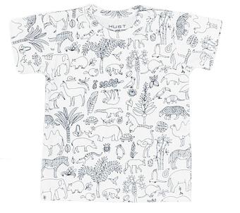 T-shirt vit med djur