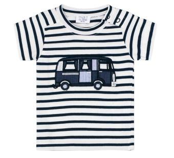 T-shirt Blå/vitrandig Blues