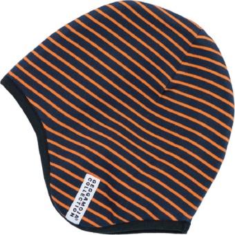 Mössa Hjälmmössa Marinblå/Orange