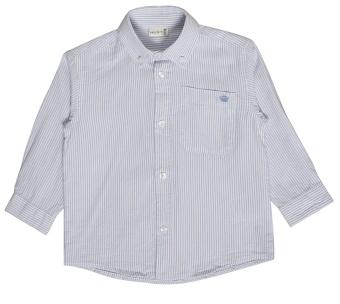 Skjorta, randig vit- och ljusblå