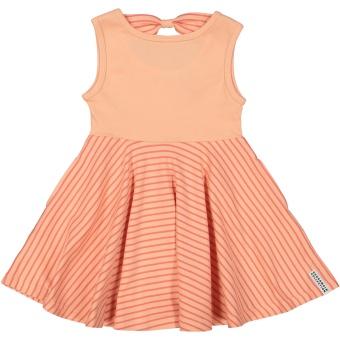 Klänning - Snurrklänning persika