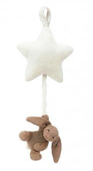 Speldosa, stjärna med kanin beige