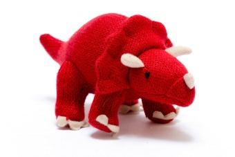 Dinosaurie, skallra, liten röd