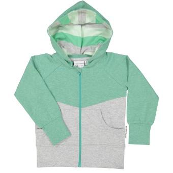 Ziptröja (grön mel)