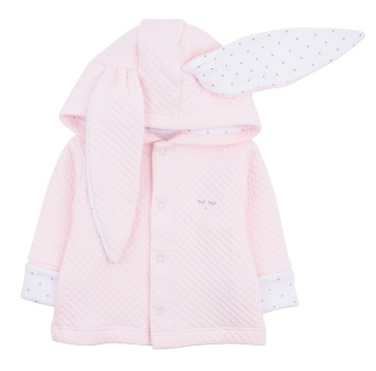 Cardigan Bunny Mauve Rose/White