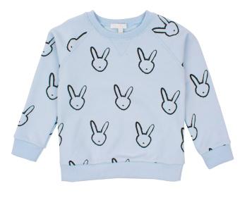 Tröja blå med kaniner