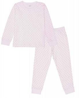 Pyjamas rosa/guld prickar 2-delar