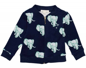 Ziptröja varsity jacket navy elephants