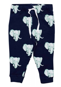 Byxa, jogger, navy elephants