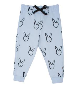 Byxa blå med kaniner