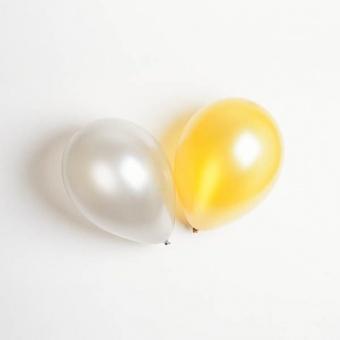 Ballonger guld och silver 10 st