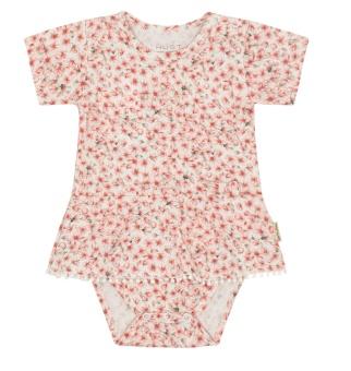 Bodyklänning småblommig,  Bria Ivory