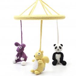 Mobil - Panda, squirrel and rabbit