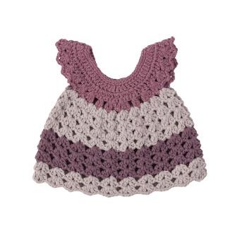 Dockkläder klänning pasetll lila