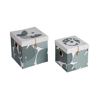 Förvaringslådor - 2pack - stor, Tiny tropics