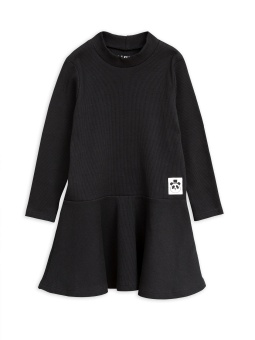 Klänning - Solid Rib Turtleneck Black