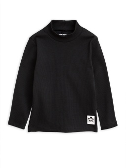 Tröja - Solid Rib Turtleneck Black