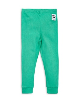 Rib leggings green