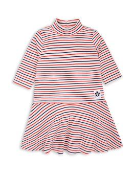 Stripe Rib dress dance dress