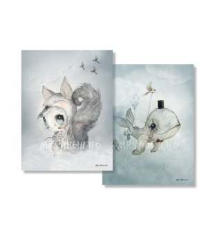 Poster, 2-pack - Dear Whalie/Tiny Toffle