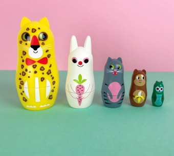 Stapelfigurer - Matryoshka Animlas 3